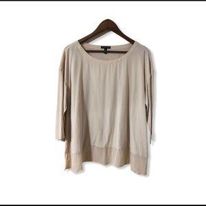 EUC Eileen Fisher 3/4 sleeve blouse medium